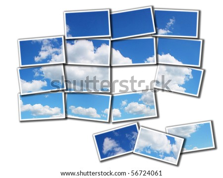 Sky and clouds mosaic