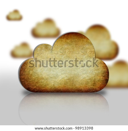 sky and clouds on background retro brown