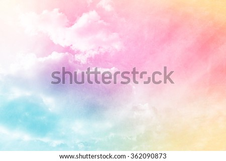 sky and clouds with gradient filter and grunge texture, nature abstract background