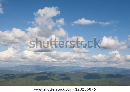 Sky and Mountains