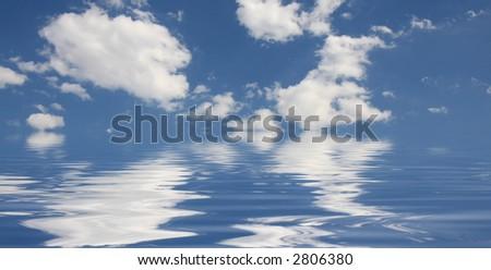 Sky and sea - stock photo