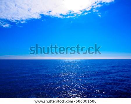 Sky and sea #586801688