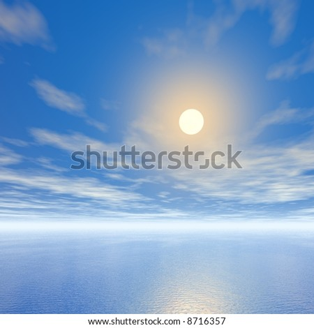 sky and sea - stock photo