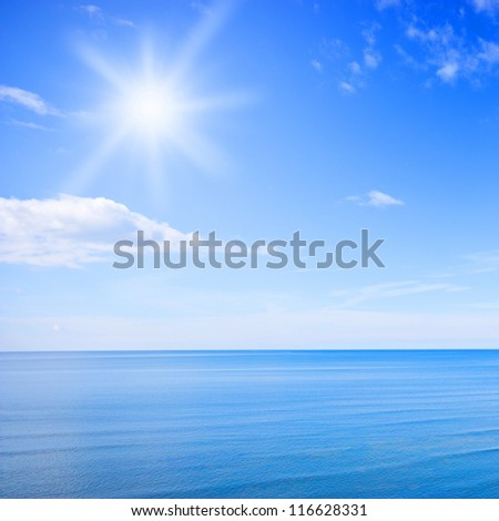 Sky and sea photo