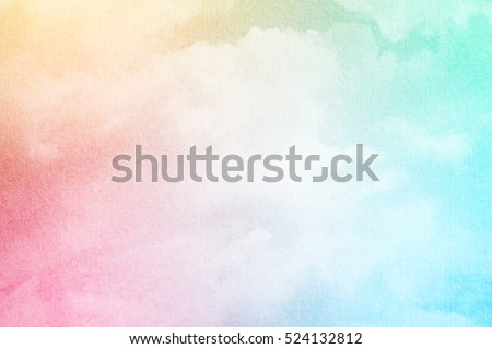 sky and soft cloud with pastel color filter and grunge texture, nature abstract background