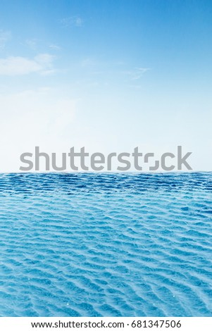 sky and swimming pool background with free copyspace for your text #681347506