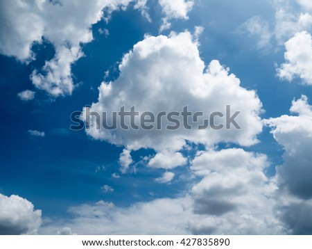 Sky and White cloud #427835890