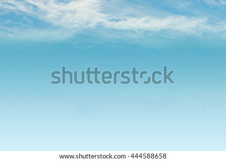 sky and White cloud: clear blue sky with plain white cloud with space for text background