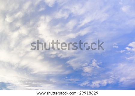 sky and white clouds background