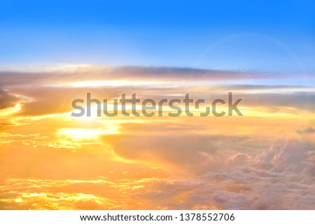 Sky atmosphere Of the stratosphere #1378552706
