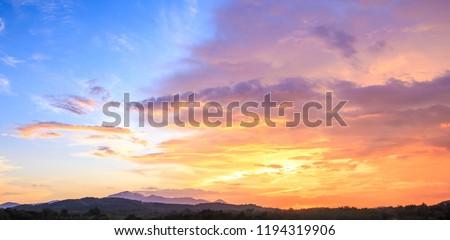 Sky autumn sunset mountain background