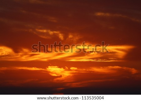Sky Background at Sunset