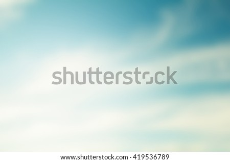Sky background blurred natural abstract style. #419536789