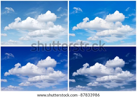 Sky background for Winter, Spring, Summer, Autumn