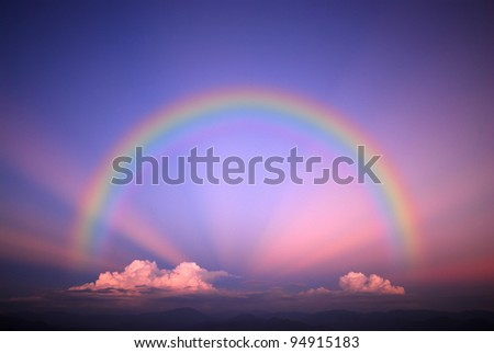 Sky background landscape beam beam cloud light Rainbow