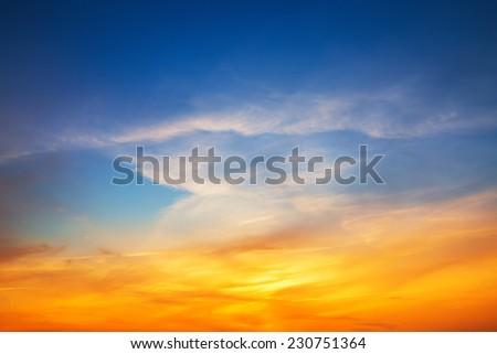 Sky background on sunset #230751364