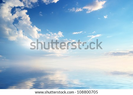 Sky background on sunset. Nature composition. #108800705