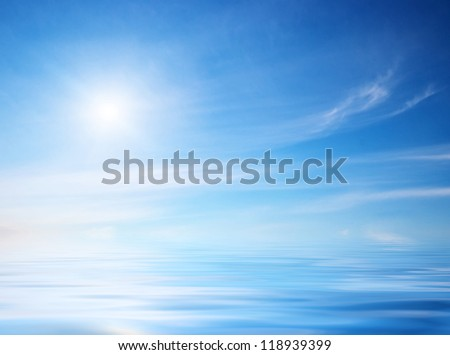 Sky background on sunset Nature composition