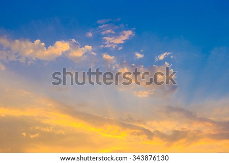 sky background with tiny clouds #343876130