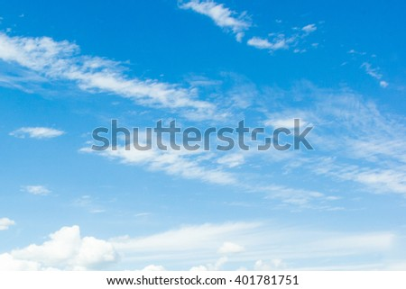 Sky background with white clouds - Shutterstock ID 401781751