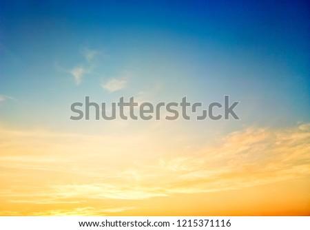 Sky beautiful sunset background in twilight time, colorful scene, amazing nature landscape image #1215371116