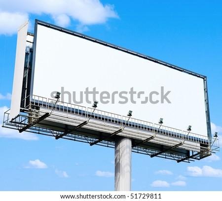 Sky Billboard - stock photo