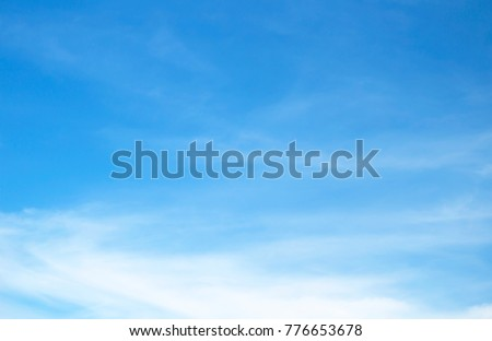 sky blue background white cloud - Shutterstock ID 776653678