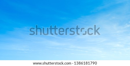 Sky blue cloud background. Clear sky