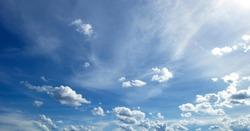 Sky blue high angle wide angle beautiful nature