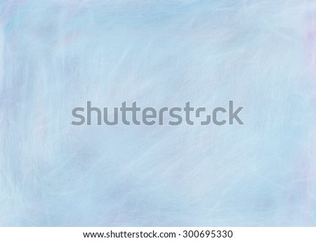 sky blue paper background in soft powder blue pastel color, old distressed vintage blue background with faded white color overlay of fine scratched brush strokes and vintage grunge texture