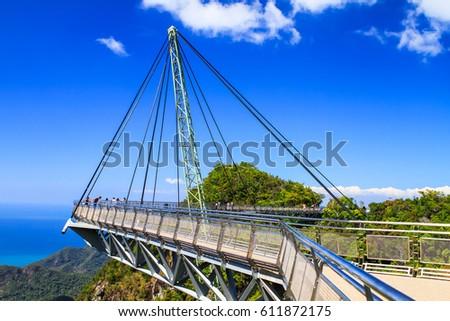 Sky bridge. Langkawi, Malaysia. #611872175