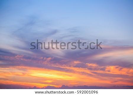 Sky Cloud at Sunset