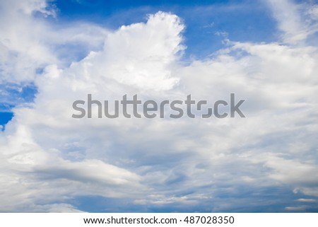 Sky Cloud Background #487028350