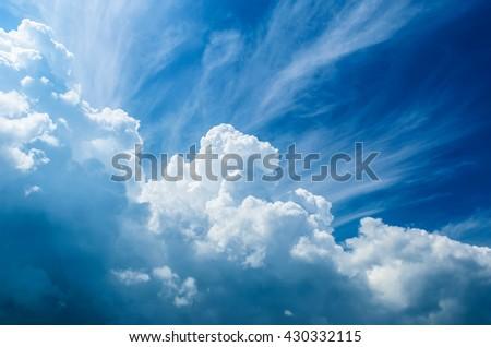 Sky clouds - Shutterstock ID 430332115