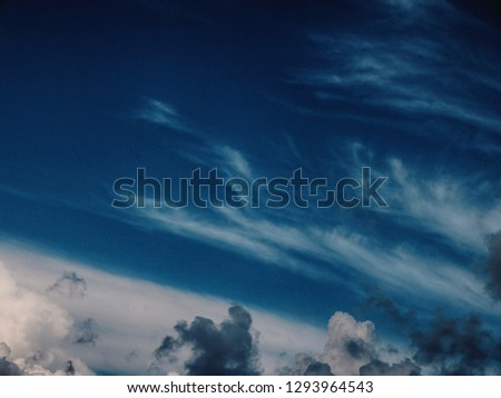 Sky clouds and no sun #1293964543