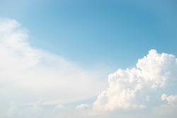 Sky clouds background,Blue sky background with tiny clouds,Clear blue sky and white clouds.