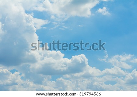 Sky clouds background, Blue sky in good weather days.