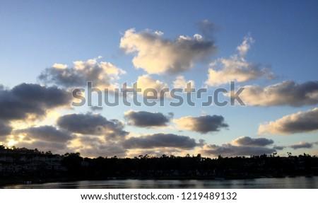 sky clouds evening #1219489132