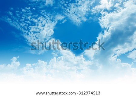 Sky, clouds, forming a