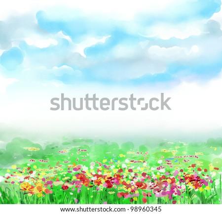 Fantasy flower drawings
