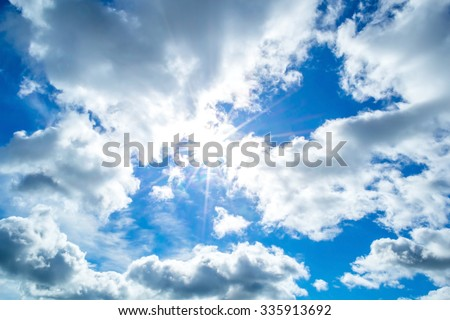 Sky clouds,sky with clouds and sun #335913692