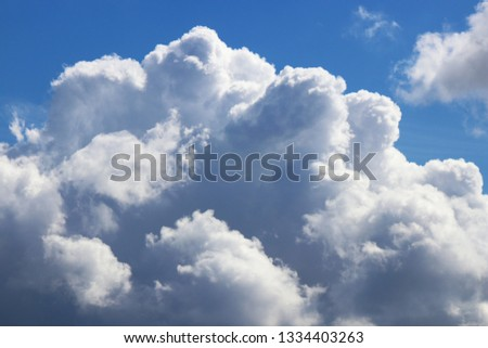 Sky cloudscape background. Clouds weather backdrop. Atmosphere nature pattern. #1334403263