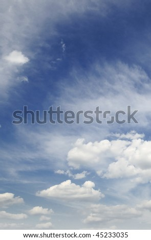 sky covered by clouds #45233035