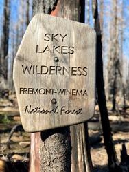 Sky Lakes Wilderness Trailhead Sign Fremont Winema National Forest Oregon