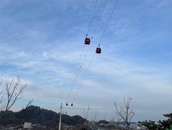 Sky landscape. Cable car. A place worth visiting.