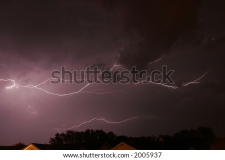sky lightning clouds thunderstorms weather