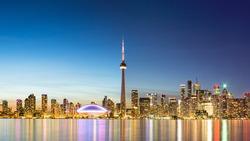 Sky line of Toronto, Canada
