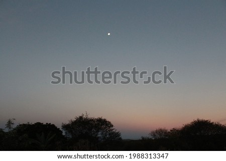 Sky moon twilight nightfall backwoods bahia brasil Foto stock ©