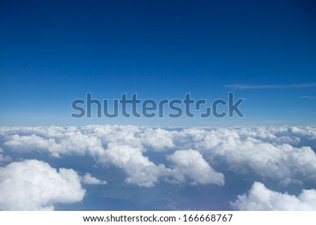 Sky over clouds #166668767