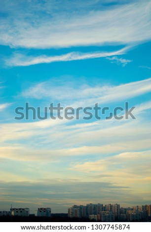 sky over the city #1307745874